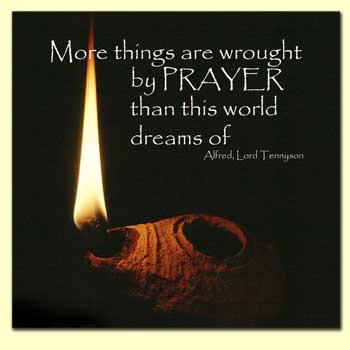 Alfred Lord Tennyson quote on prayer
