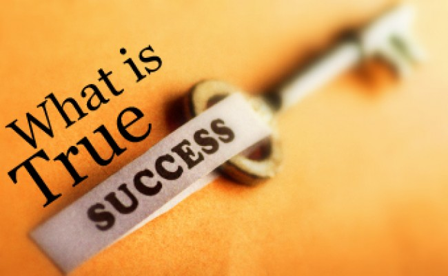 What is true success text with a key